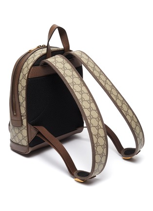 Detail View - Click To Enlarge - GUCCI - 'Ophidia' Web stripe GG Supreme canvas backpack
