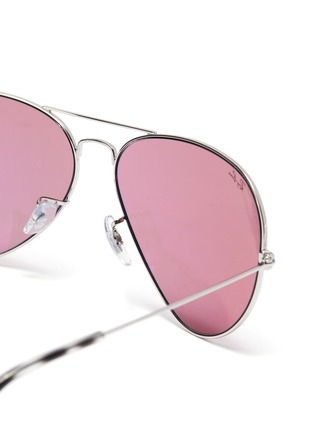 Detail View - Click To Enlarge - RAY-BAN - x Team Wang metal aviator sunglasses