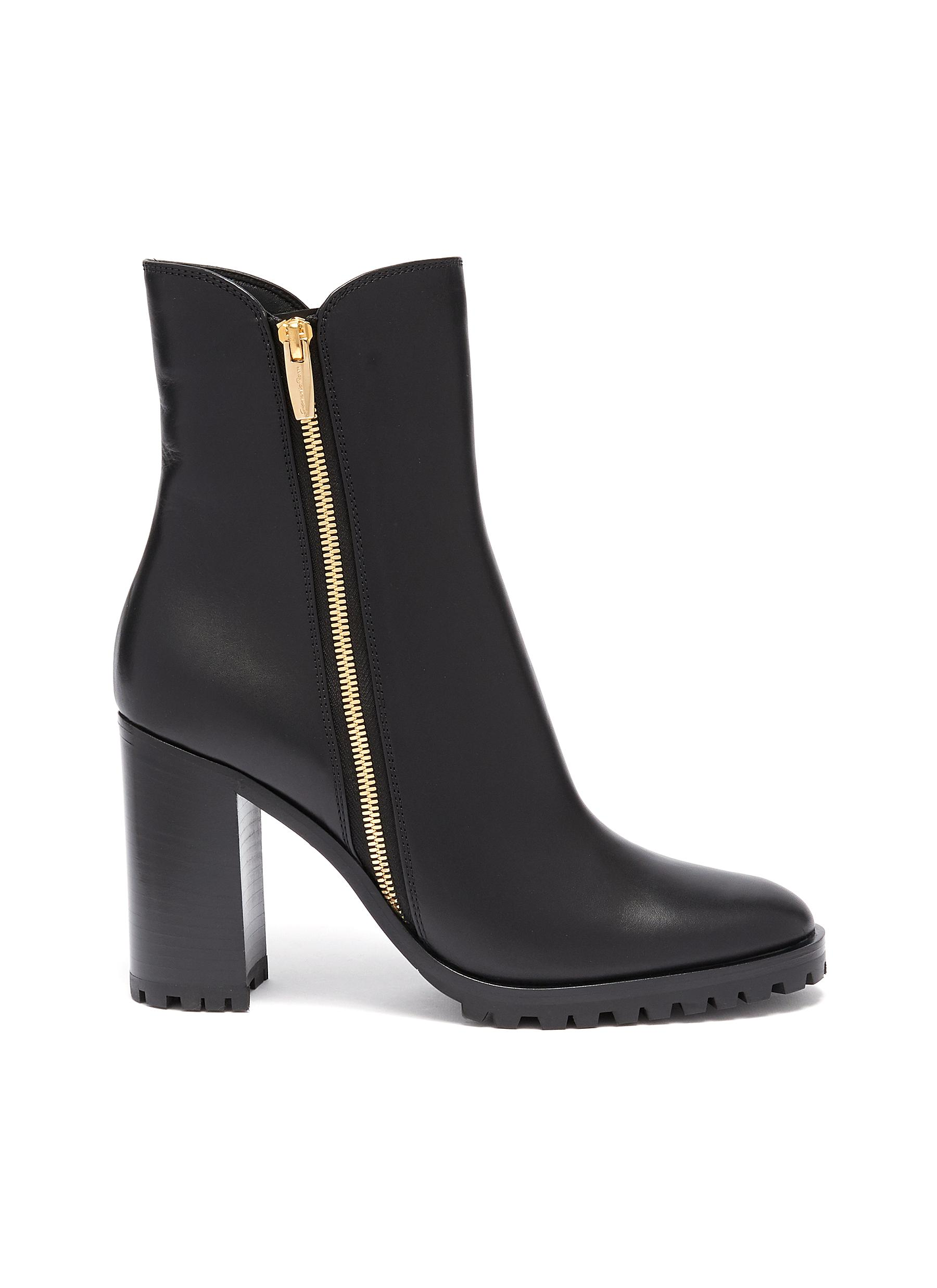 Leather ankle boots by Gianvito Rossi