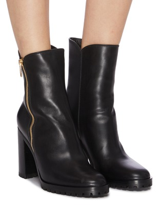 Figure View - Click To Enlarge - GIANVITO ROSSI - Leather ankle boots
