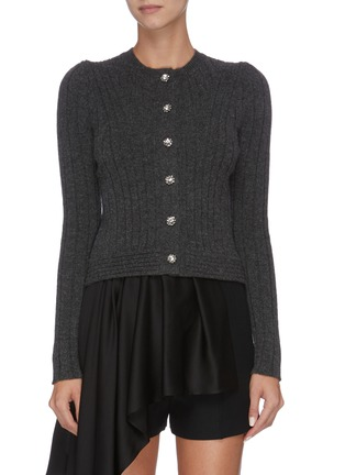 Main View - Click To Enlarge - ALEXANDER MCQUEEN - Jewel button cardigan
