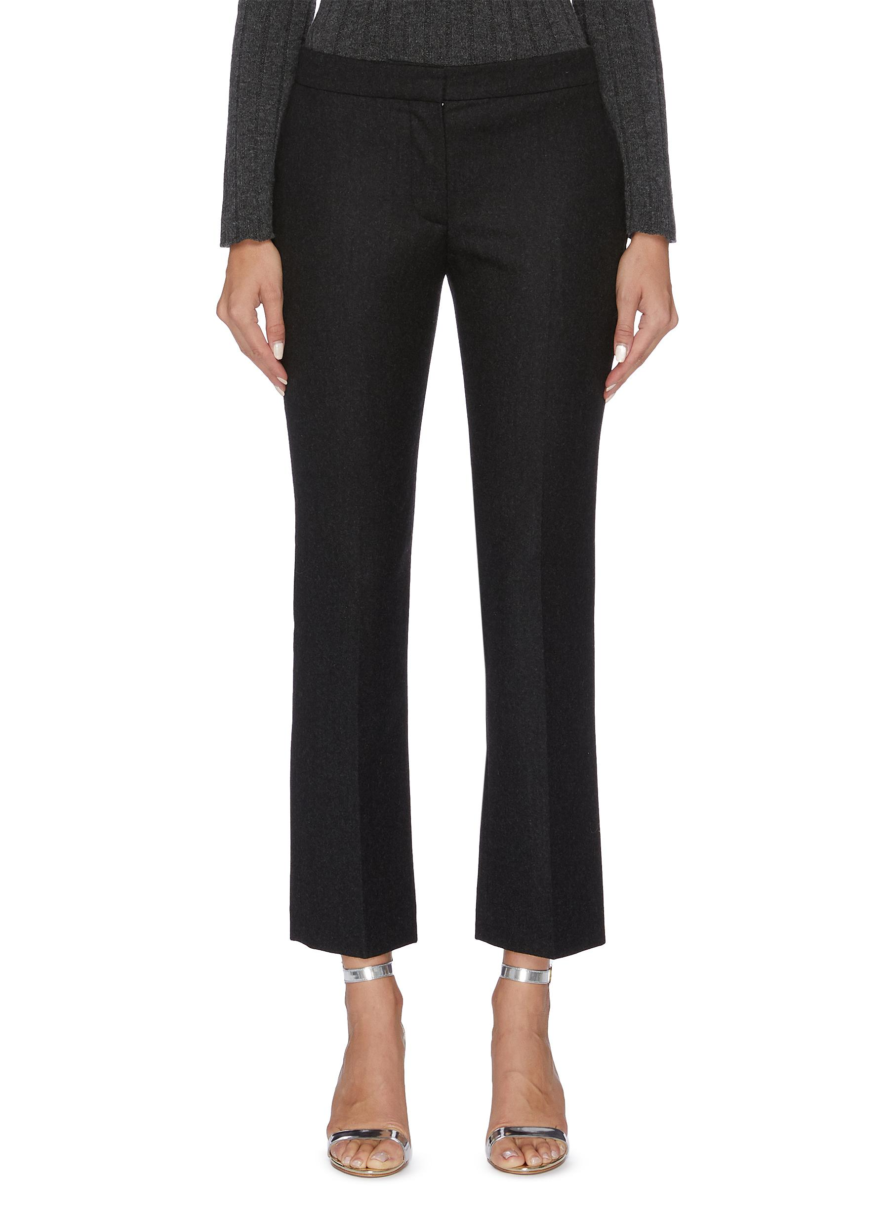 Slim fit flannel suiting pants by Alexander Mcqueen