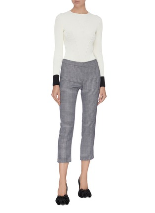 Figure View - Click To Enlarge - ALEXANDER MCQUEEN - Rib knit contrast cuff top