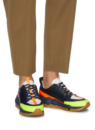 Figure View - Click To Enlarge - PIERRE HARDY - 'Street Life' colourblock panelled leather sneakers