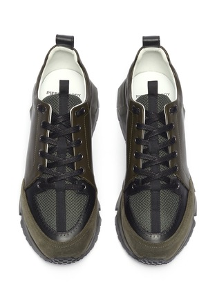 Detail View - Click To Enlarge - PIERRE HARDY - 'Street Life' colourblock panelled leather sneakers