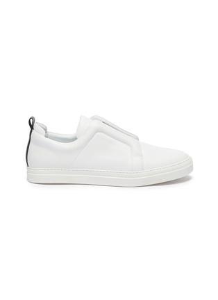 Main View - Click To Enlarge - PIERRE HARDY - 'Slider' elastic band leather slip-on sneakers