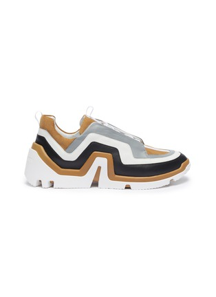 Main View - Click To Enlarge - PIERRE HARDY - 'Vibe' wavy panel leather sneakers