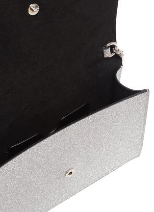 Detail View - Click To Enlarge - ALEXANDER MCQUEEN - Skull embellished glitter chain shoulder bag