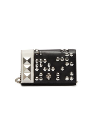 Main View - Click To Enlarge - ALEXANDER MCQUEEN - Skull stud mini leather bag