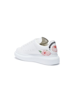 - ALEXANDER MCQUEEN - 'Larry' rose print counter leather sneakers