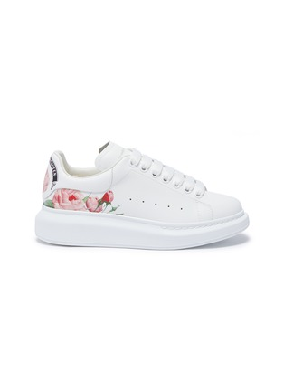Main View - Click To Enlarge - ALEXANDER MCQUEEN - 'Larry' rose print counter leather sneakers