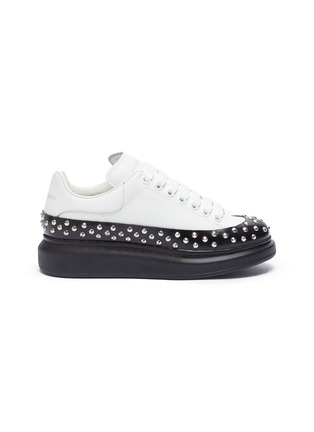 Main View - Click To Enlarge - ALEXANDER MCQUEEN - 'Larry' contrast sole studded sneakers