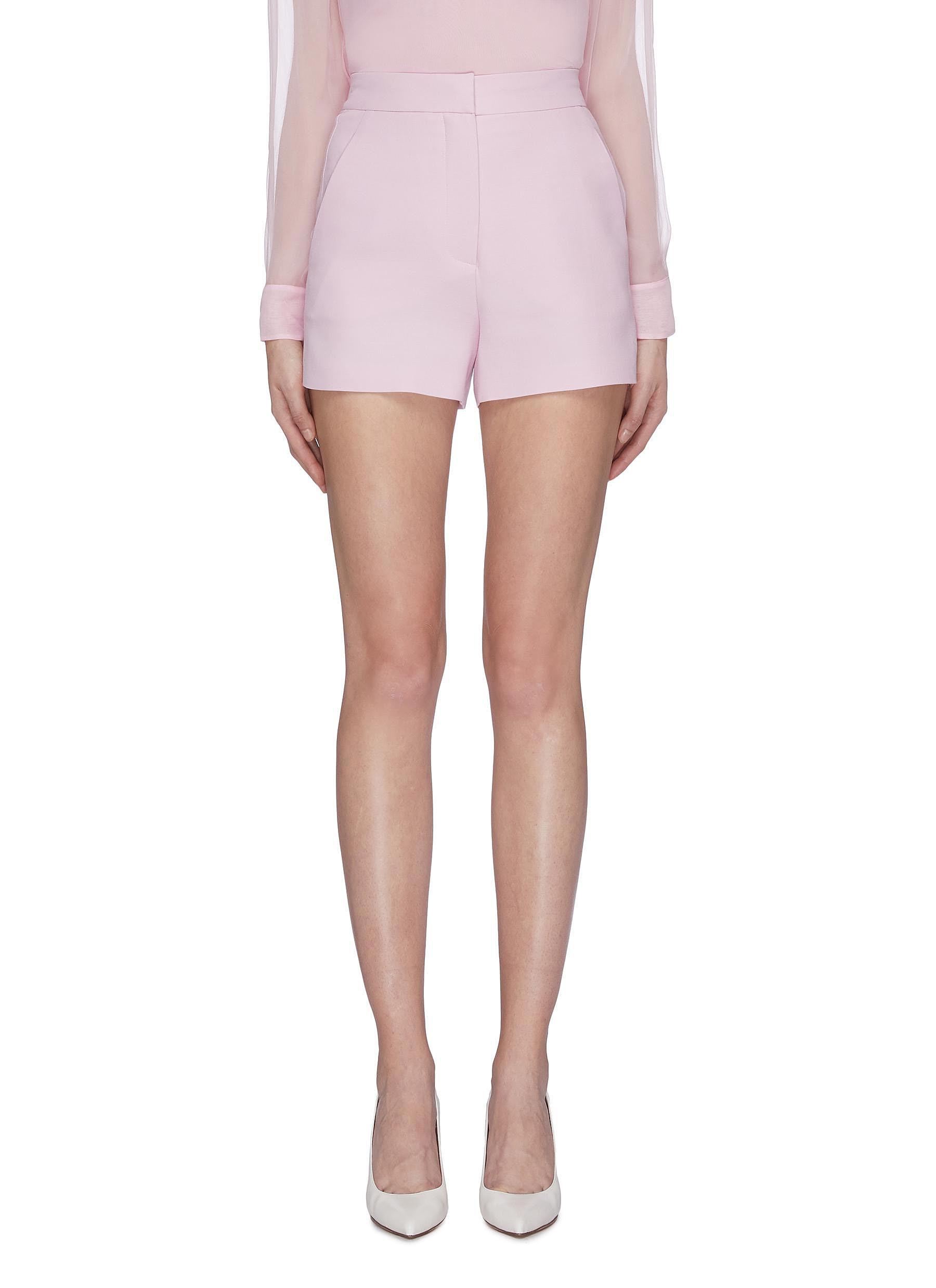 Silk crepe shorts by Valentino