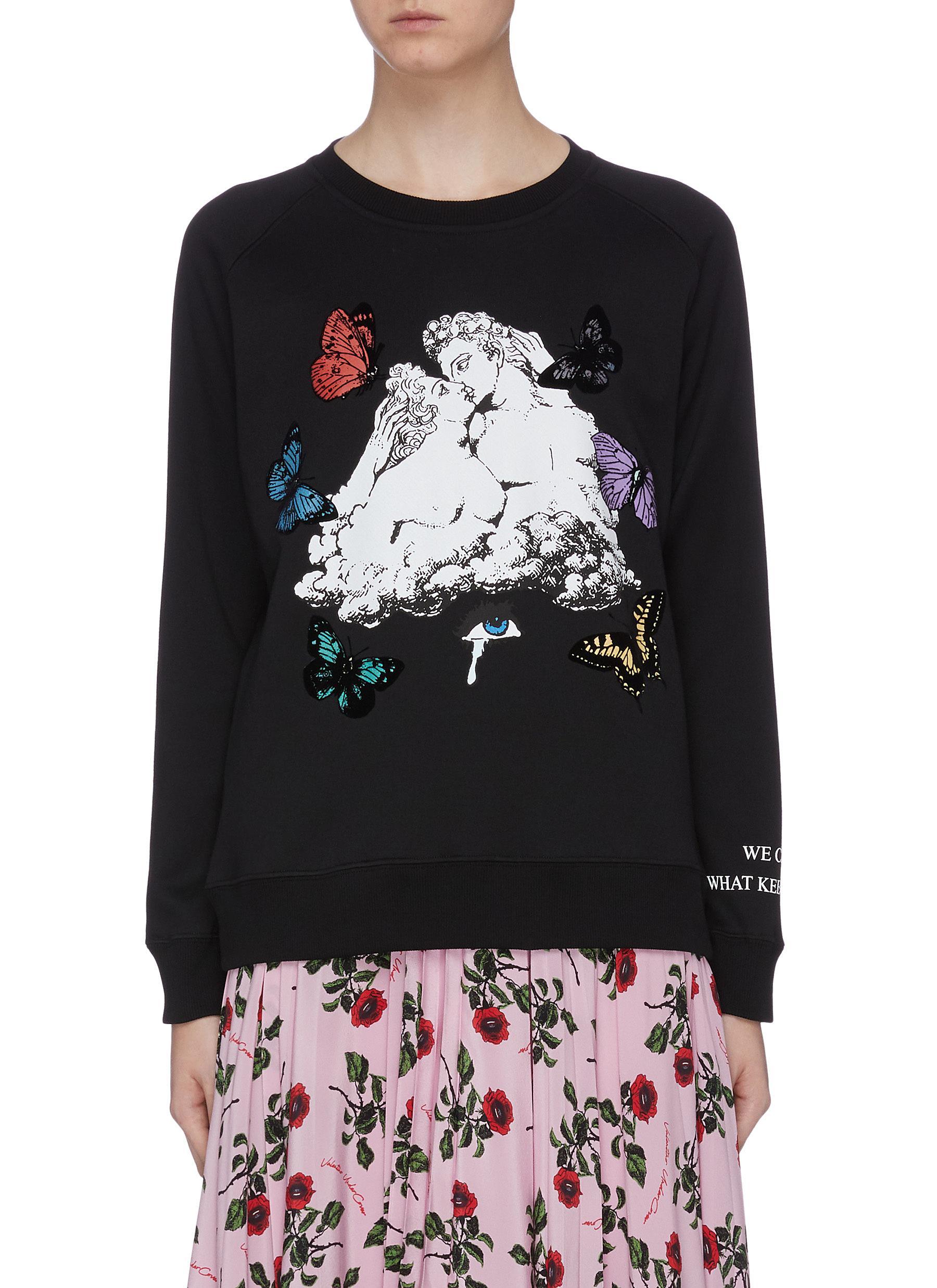 x UNDERCOVER lovers slogan print sweatshirt by Valentino