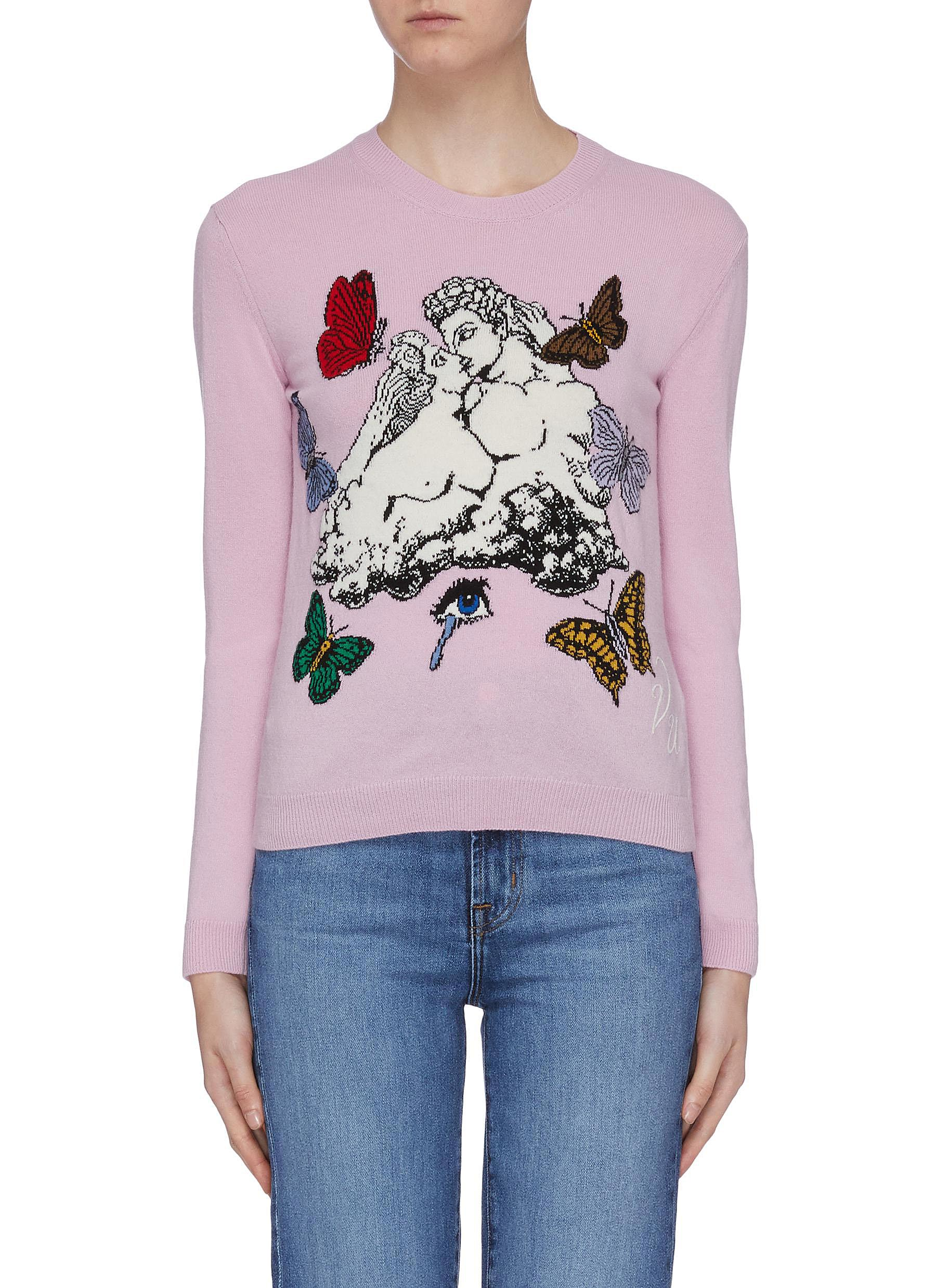 Lovers intarsia sweater by Valentino