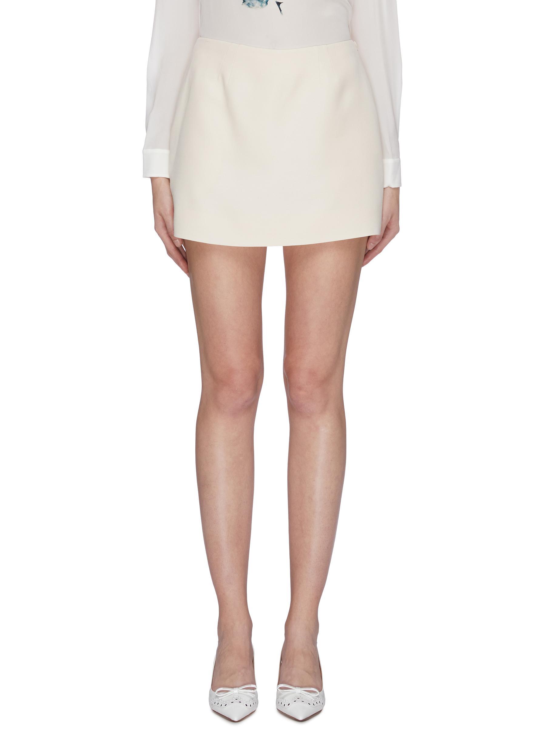 Crepe mini skirt by Valentino