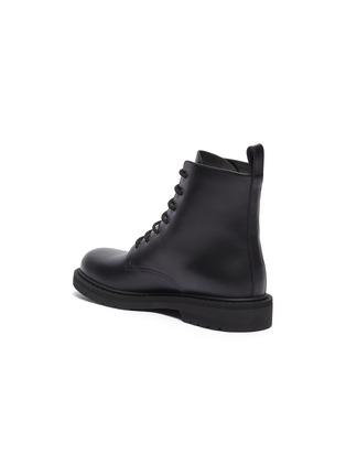 - VALENTINO - Valentino Garavani 'VLTN' slogan print leather military boots