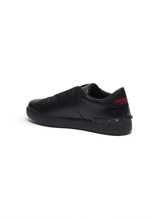 - VALENTINO - Valentino Garavani x UNDERCOVER 'Open' skull VLOGO patch leather sneakers