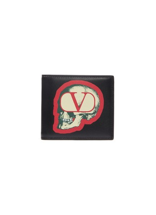 Main View - Click To Enlarge - VALENTINO - x UNDERCOVER VLOGO skull print leather bi-fold wallet