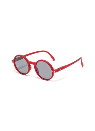 Main View - Click To Enlarge - IZIPIZI - 'G' polycarbonate round frame kids sunglasses