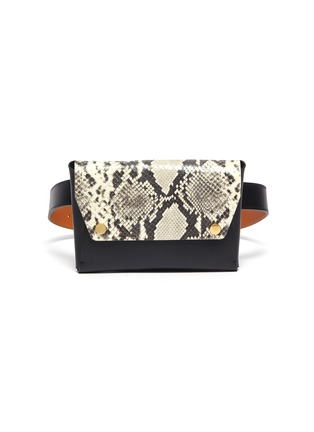 Main View - Click To Enlarge - MAISON BOINET - Python embossed leather pouch belt