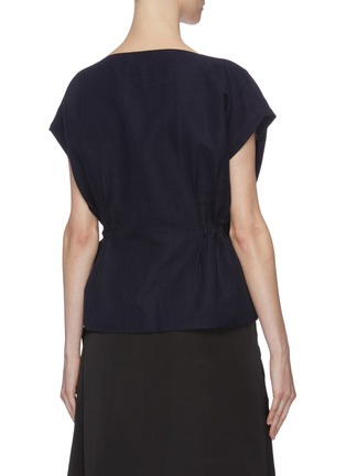 Back View - Click To Enlarge - THE R COLLECTIVE - 'Nova' ruched waist sleeveless top