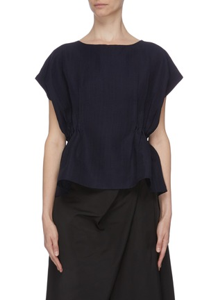 Main View - Click To Enlarge - THE R COLLECTIVE - 'Nova' ruched waist sleeveless top