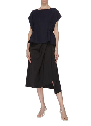Figure View - Click To Enlarge - THE R COLLECTIVE - 'Nova' ruched waist sleeveless top