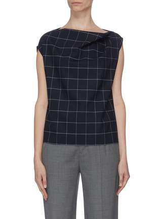 Main View - Click To Enlarge - THE R COLLECTIVE - 'Brooks' sleeveless check plaid top
