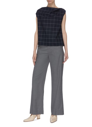 Figure View - Click To Enlarge - THE R COLLECTIVE - 'Brooks' sleeveless check plaid top