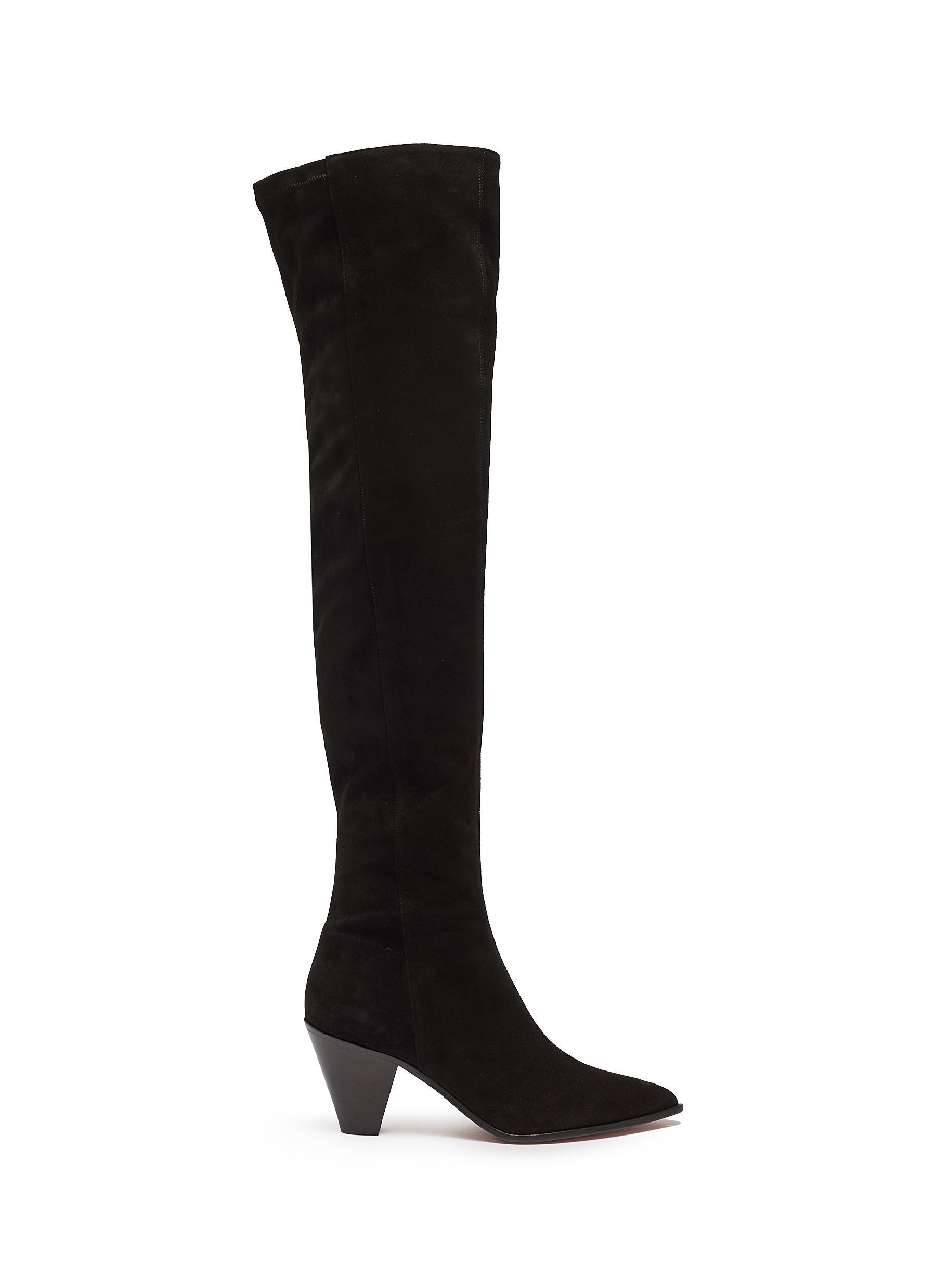 Shoreditch suede knee high boots by Aquazzura