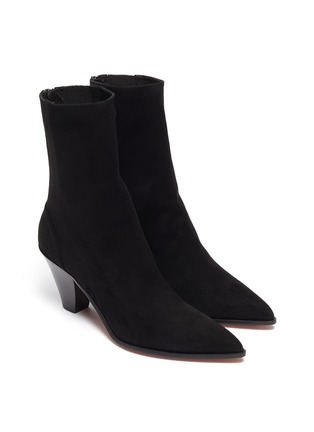 Detail View - Click To Enlarge - AQUAZZURA - 'Saint Honore' suede ankle boots