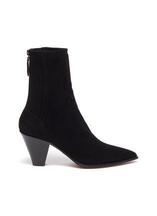 Main View - Click To Enlarge - AQUAZZURA - 'Saint Honore' suede ankle boots