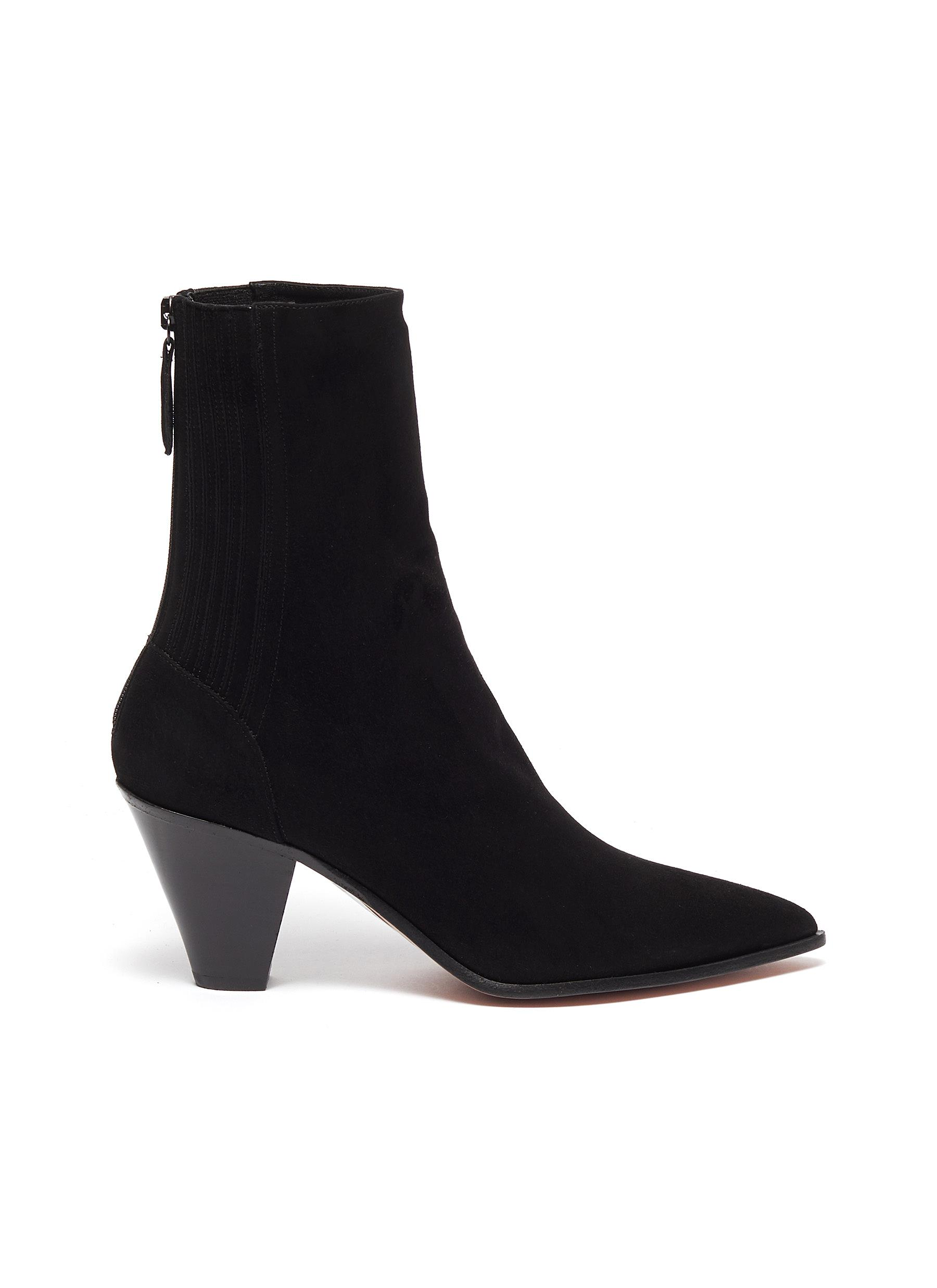 Saint Honore suede ankle boots by Aquazzura