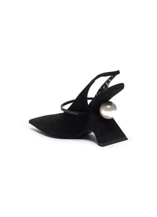 - NICHOLAS KIRKWOOD - 'Jazzelle' structural heel slingback suede pumps