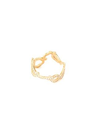 Detail View - Click To Enlarge - SARAH & SEBASTIAN - 'Kintsugi' diamond 10k yellow gold ring