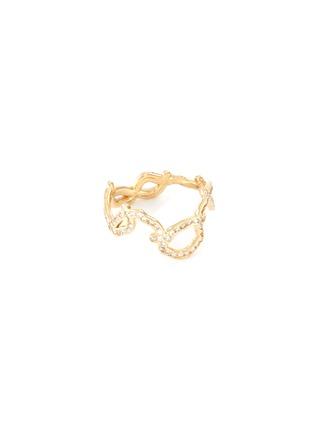 Main View - Click To Enlarge - SARAH & SEBASTIAN - 'Kintsugi' diamond 10k yellow gold ring