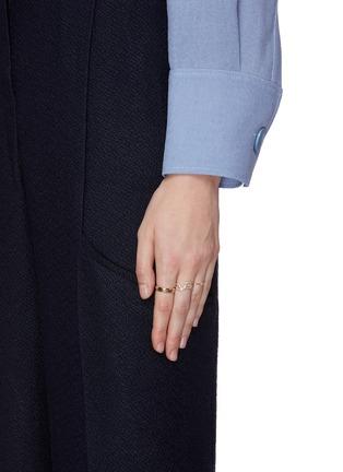Figure View - Click To Enlarge - SARAH & SEBASTIAN - 'Sepal' diamond 10k yellow gold ring