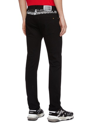 Back View - Click To Enlarge - VERSACE - Bandana waist jeans