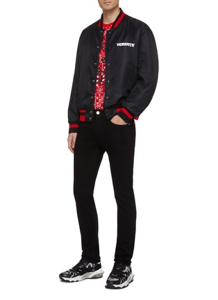Figure View - Click To Enlarge - VERSACE - Bandana waist jeans