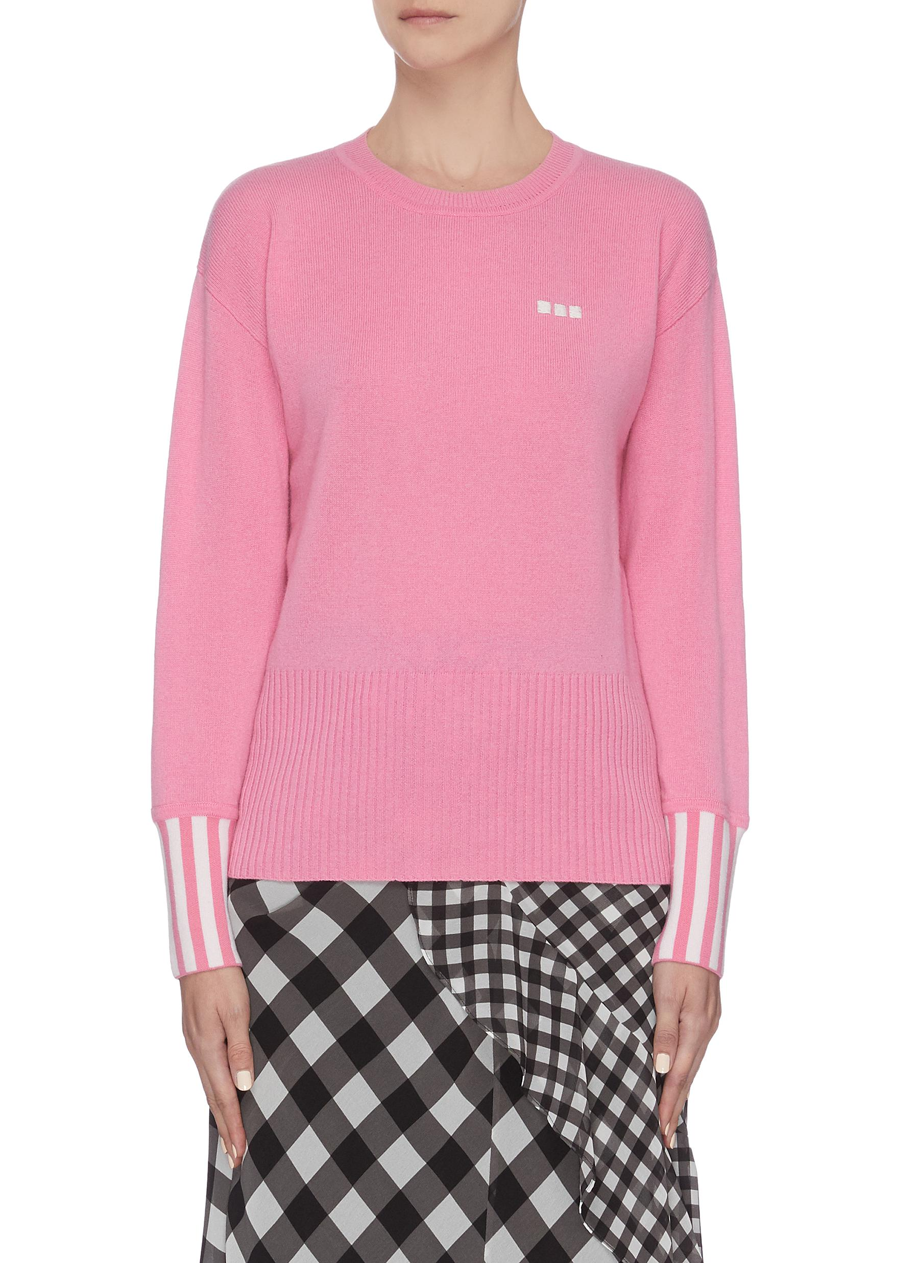shop Ph5 Stripe cuffs panelled pansy sweater online