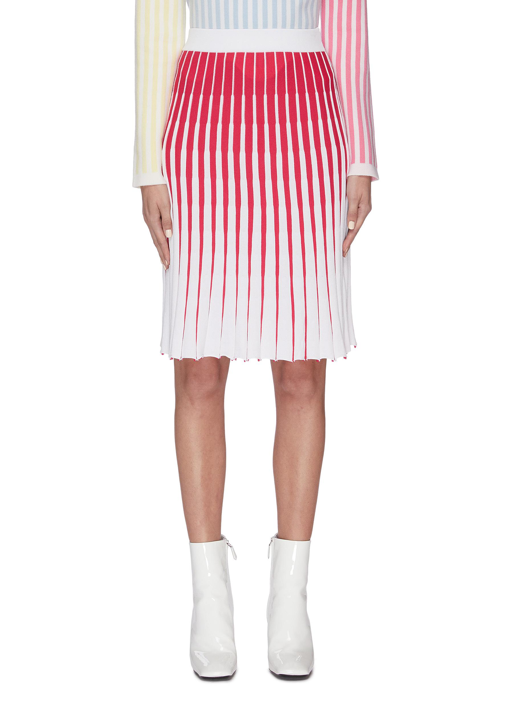 shop Ph5 'Thoms' gradient colourblock ribbed midi skirt online