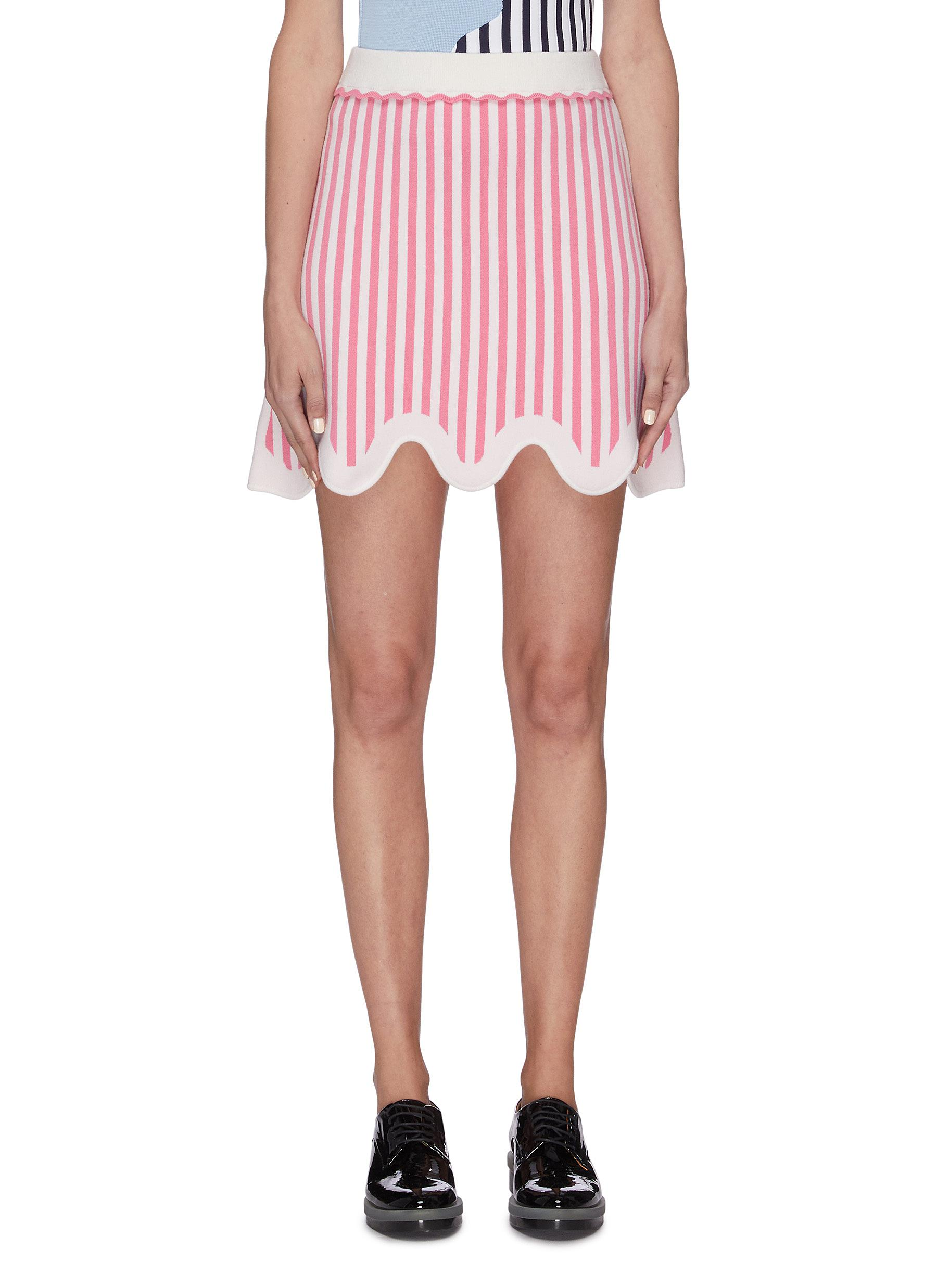 shop Ph5 'Adelie' wavy hem stripe mini skirt online