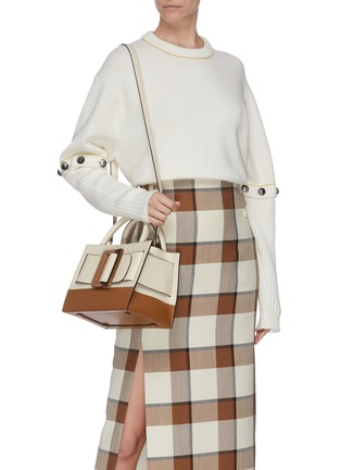 Front View - Click To Enlarge - BOYY - 'Bobby 23' small colourblock buckle top handle bag