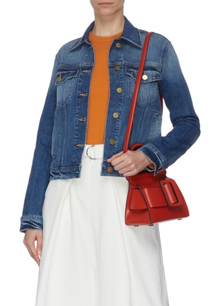 Front View - Click To Enlarge - BOYY - 'Karl 19' mini buckle top handle bag