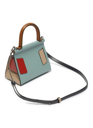 Detail View - Click To Enlarge - BOYY - 'Karl 19' colourblock mini buckle top handle bag