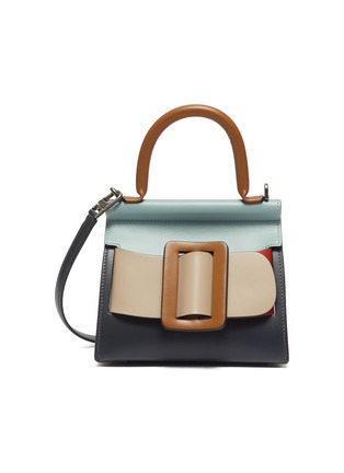 Main View - Click To Enlarge - BOYY - 'Karl 19' colourblock mini buckle top handle bag