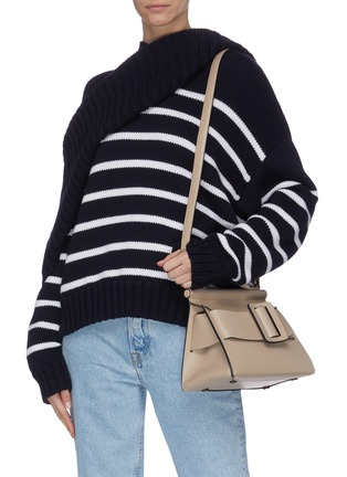 Front View - Click To Enlarge - BOYY - 'Karl 24' small flapover satchel buckle top handle bag