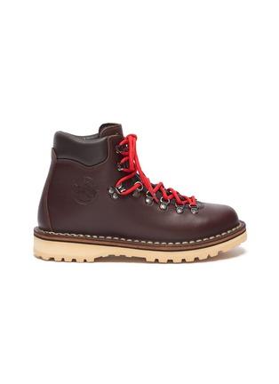 Main View - Click To Enlarge - DIEMME - 'Roccia' contrast lace calf hiker boots