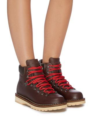 Figure View - Click To Enlarge - DIEMME - 'Roccia' contrast lace calf hiker boots